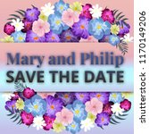 save the date  floral wedding...   Shutterstock .eps vector #1170149206