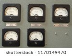 analog dials on wall panels... | Shutterstock . vector #1170149470