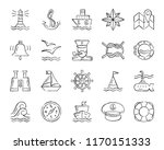 marine charcoal icons set.... | Shutterstock .eps vector #1170151333