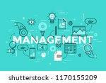 management lettering with... | Shutterstock .eps vector #1170155209