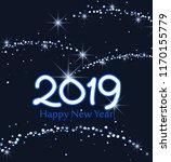merry christmas card  2019... | Shutterstock .eps vector #1170155779