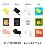 the detective s badge  the... | Shutterstock .eps vector #1170157426