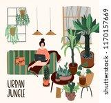 urban jungle. vector... | Shutterstock .eps vector #1170157669