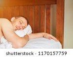 close up of young sleeping men...   Shutterstock . vector #1170157759