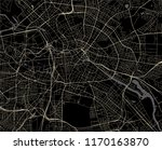 vector map of the city of... | Shutterstock .eps vector #1170163870
