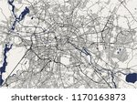 vector map of the city of... | Shutterstock .eps vector #1170163873