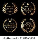 collection of elegant black and ... | Shutterstock .eps vector #1170165430