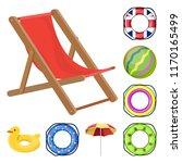 multicolored swimming circle... | Shutterstock .eps vector #1170165499