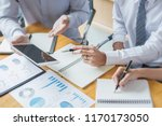 business adviser analyzing... | Shutterstock . vector #1170173050