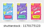 trendy flat geometric vector... | Shutterstock .eps vector #1170175123