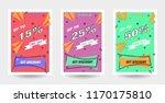 trendy flat geometric vector... | Shutterstock .eps vector #1170175810
