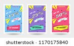 trendy flat geometric vector... | Shutterstock .eps vector #1170175840