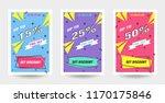 trendy flat geometric vector... | Shutterstock .eps vector #1170175846