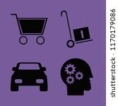 wheel vector icons set. with... | Shutterstock .eps vector #1170179086