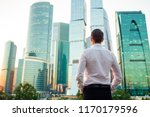 back view of businessman... | Shutterstock . vector #1170179596