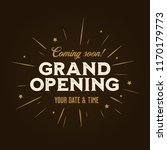 grand opening template  banner  ... | Shutterstock .eps vector #1170179773