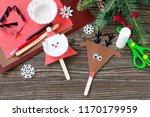 santa and reindeer stick... | Shutterstock . vector #1170179959