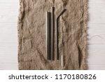 eco natural metallic straws... | Shutterstock . vector #1170180826