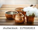copper old scratched vintage...   Shutterstock . vector #1170181813