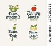 farm related emblems set.... | Shutterstock .eps vector #1170183316