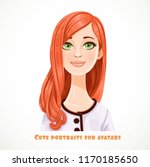 beautiful green eyed red haired ... | Shutterstock .eps vector #1170185650