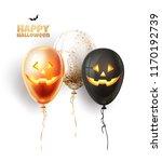 vector halloween holiday scary... | Shutterstock .eps vector #1170192739