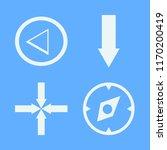 direction vector icons set....   Shutterstock .eps vector #1170200419