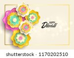 happy diwali. paper graphic of... | Shutterstock .eps vector #1170202510