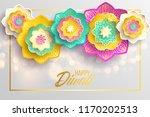 happy diwali. paper graphic of... | Shutterstock .eps vector #1170202513