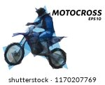 motocross from triangles. low... | Shutterstock .eps vector #1170207769