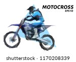 rider on a motorcycle involved... | Shutterstock .eps vector #1170208339