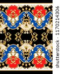border with golden baroque... | Shutterstock .eps vector #1170214306
