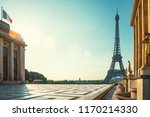 paris street with view on the... | Shutterstock . vector #1170214330