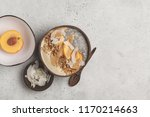smoothie bowl with chia pudding ... | Shutterstock . vector #1170214663