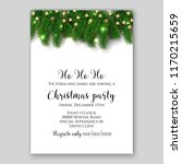 christmas party invitation... | Shutterstock .eps vector #1170215659