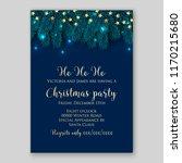 christmas party invitation blue ... | Shutterstock .eps vector #1170215680