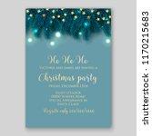 christmas party invitation blue ... | Shutterstock .eps vector #1170215683