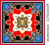 design scarf with golden... | Shutterstock .eps vector #1170216109