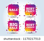 sale icons. best choice and... | Shutterstock .eps vector #1170217513
