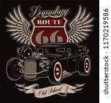 design of vintage american hot... | Shutterstock .eps vector #1170219586