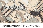 abstract collage asymmetric... | Shutterstock .eps vector #1170219763
