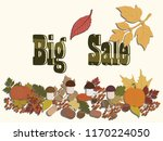 big sale   autumn garland of... | Shutterstock .eps vector #1170224050