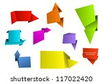 set of different colored... | Shutterstock .eps vector #117022420