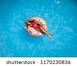 top view of a beautiful young... | Shutterstock . vector #1170230836