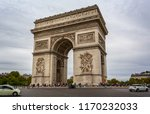 view of the arc de triomphe... | Shutterstock . vector #1170232033