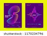 music wave poster. party flyer... | Shutterstock .eps vector #1170234796