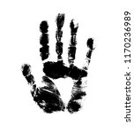 print of hand of human  cute... | Shutterstock .eps vector #1170236989