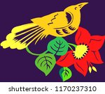 beautiful nightingale on a... | Shutterstock .eps vector #1170237310