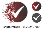 apply icon in dispersed  dotted ... | Shutterstock .eps vector #1170240700