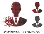 manager icon in fractured ... | Shutterstock .eps vector #1170240703